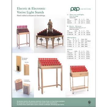 Electric and Electronic Votive Light Stands