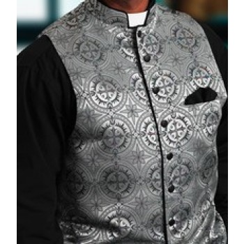 Silver Damascene Clergy Vest
