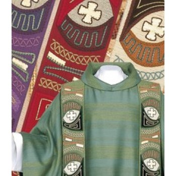 Modern Ornamentic Chasuble and Overlay Stole