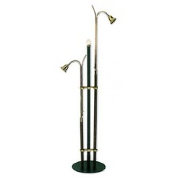 Steel and Brass Candlelighter Stand