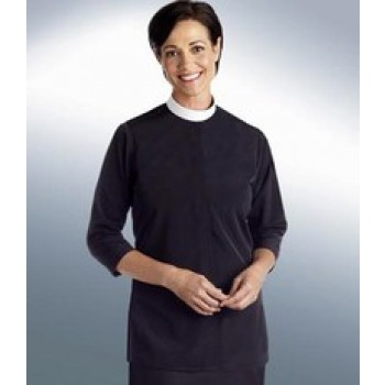 Women's Tunic Neckband Clergy Blouse