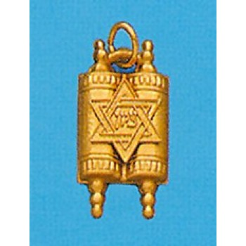 Torah with Star of David in 14K Gold