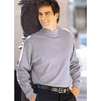 Egyptian Interlock Long Sleeve Mock Turtleneck