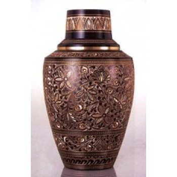 Etched Metal Urn