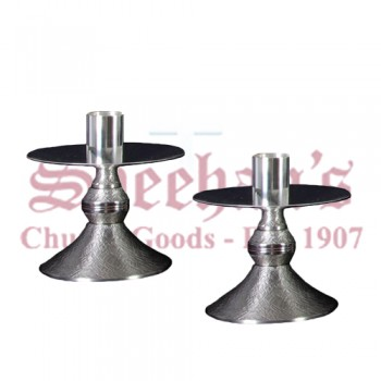 Nickel Plated Altar Candlestick