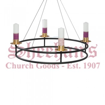 Church Hanging Advent Wreath